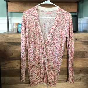 Anthropologie floral pattern sweater